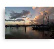Boats and Clouds - Waikiki, Honolulu, Hawaii Canvas Print