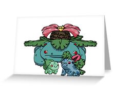 bulbasaur, ivysaur and VENUSAUR~!. Greeting Card
