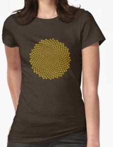 Sunflower Seed Fibonacci Spiral Golden Ratio Math Mathematics Geometry Womens Fitted T-Shirt