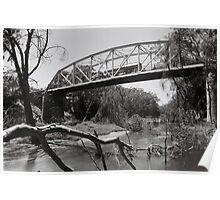 River & Bridge Poster