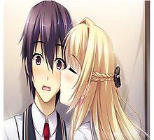 Kissing Anime/Manga Photographic Print