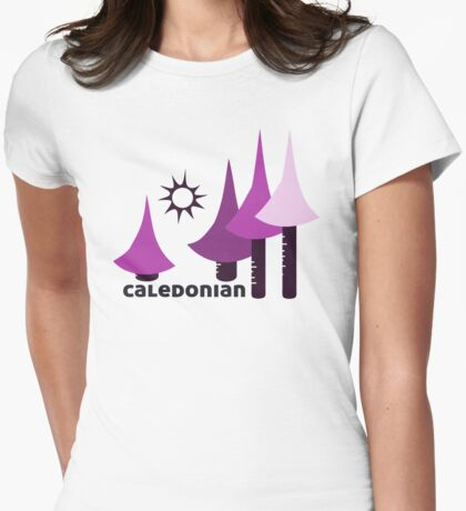 Wyld Caledonian Forest t-shirt (in mallow) Womens Fitted T-Shirt