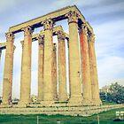ruins of ancient temple of Zeus, Athens, Greece by elgreko