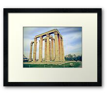 ruins of ancient temple of Zeus, Athens, Greece Framed Print
