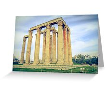 ruins of ancient temple of Zeus, Athens, Greece Greeting Card
