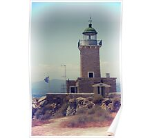 Vintage photo of lighthouse Poster