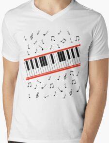 Beat It Piano Mens V-Neck T-Shirt