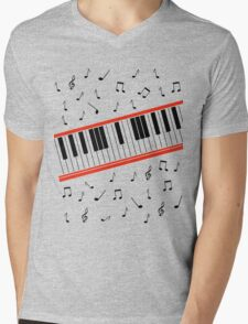 Beat It Piano Mens V-Neck T-Shirt
