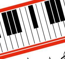 Beat It Piano Sticker