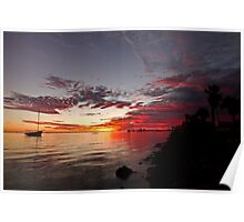 Sunset on the foreshore Poster