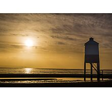 The Wooden Lighthouse at Sunset Photographic Print