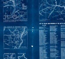 Civil War Maps 1809 The Tribune war maps 02 Inverted Sticker