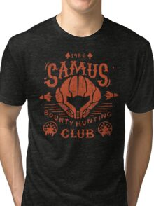 Samus Bounty Hunting Club Tri-blend T-Shirt