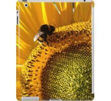 bumblebee sunbathing in a sunflower iPad Case/Skin