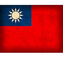 Taiwan Flag Photographic Print