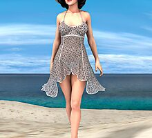 Young Woman on the Beach by Vac1
