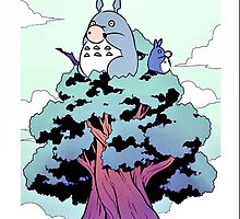 Totoro on Tree by Ruo7in