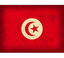Tunisia Flag Photographic Print