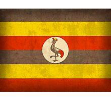 Uganda Flag Photographic Print