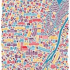 Munich City Map Poster by Vianina