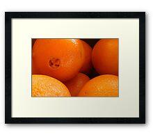 Navel Oranges Framed Print