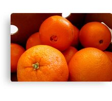 Navel Oranges In A Box Canvas Print