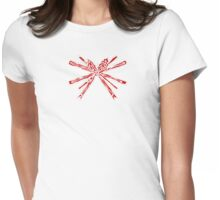 Christmas with me? Womens Fitted T-Shirt