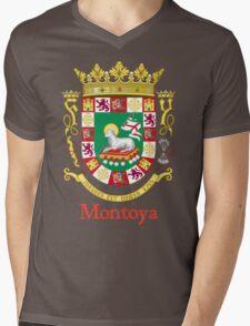 Montoya Shield of Puerto Rico Mens V-Neck T-Shirt