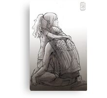 Daryl Dixon & Beth Greene - 01 Canvas Print