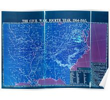 Civil War Maps 1113 McConnell's Historical maps of the United States 04 Inverted Poster