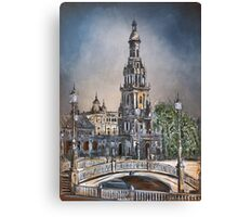 Plaza de Espana in Seville Canvas Print