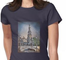 Plaza de Espana in Seville Womens Fitted T-Shirt