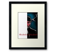 The Devil is in the Details Framed Print