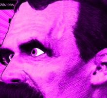 Nietzsche -  Face / Nietzsche Sticker