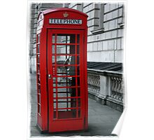 Westminster Phone Box Poster