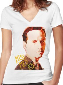 Miss me? - Jim Moriarty Women's Fitted V-Neck T-Shirt
