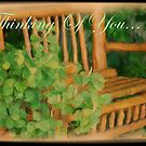 Thinking Of You Card by Lorelle Gromus