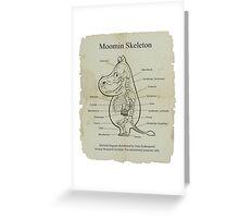 Moomin Skeletal Diagram Greeting Card