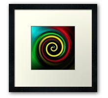 Swirling colours. Framed Print