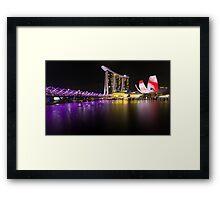 Singapore Light Art Framed Print