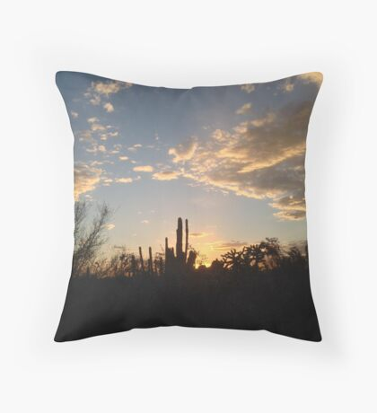 Clouds in a Desert Sunset Throw Pillow
