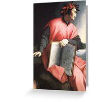 Bronzino  - Allegory of Dante  Greeting Card