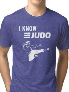 I Know Judo!!! [White Ink] Tri-blend T-Shirt