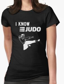 I Know Judo!!! [White Ink] Womens Fitted T-Shirt