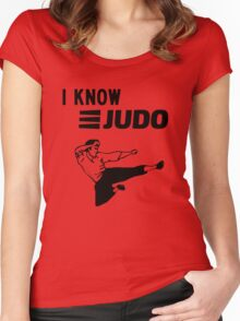 I Know Judo!!!  Women's Fitted Scoop T-Shirt