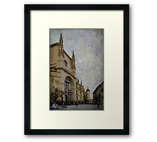 Walking by Segovia Framed Print