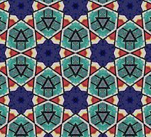 Kaleidoscopic Retro Stars by dukepope