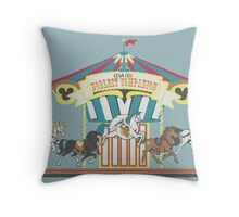 Man's Noblest Companion Carousel Throw Pillow