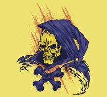 Purple Hooded Evil Skull Dude Kids Clothes