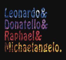 Ninja Turtles Names by LiamNeesons